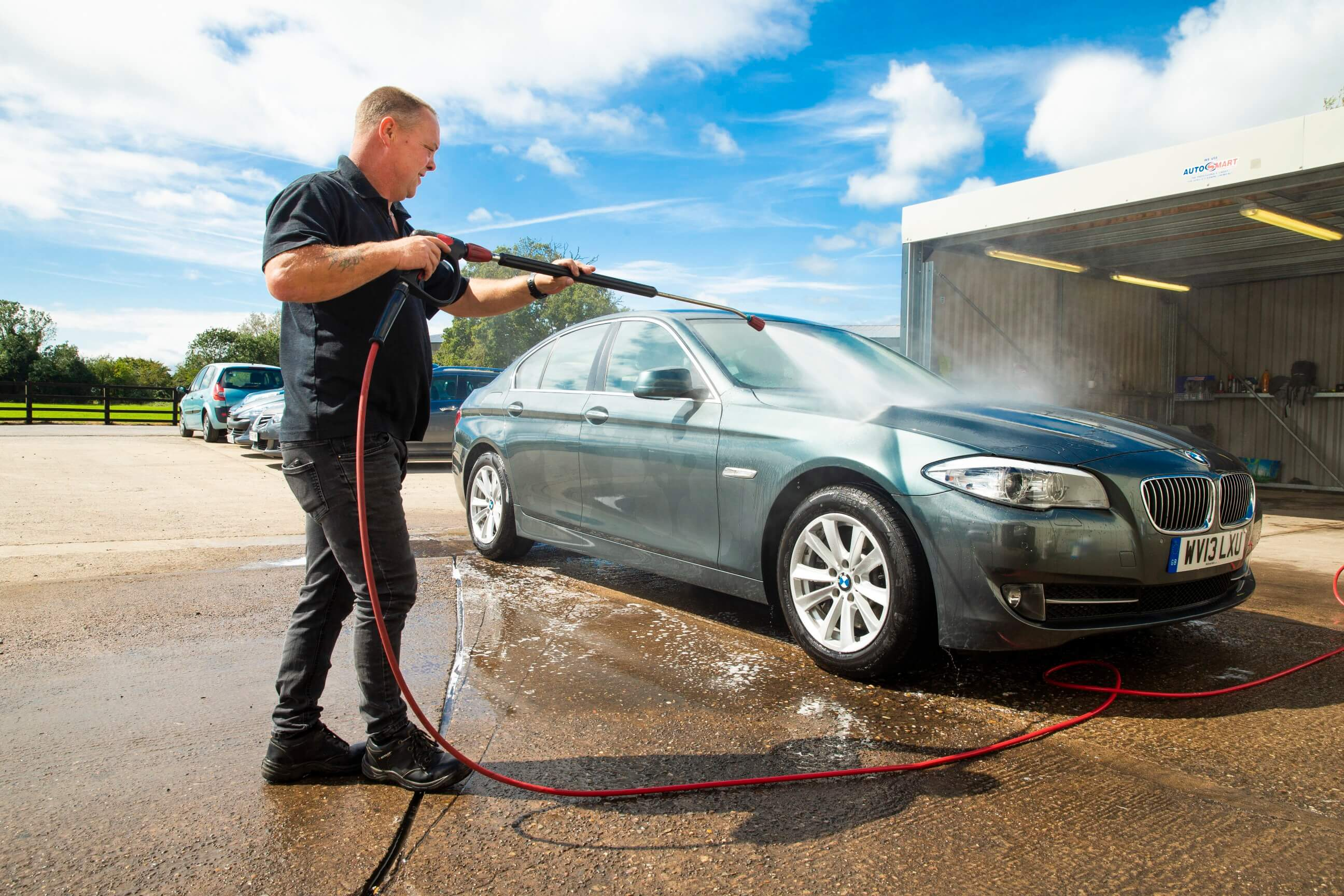Car Undergoing Valeting At Gold Cars Used Cars For Sale In Evesham - Gold Cars Ltd