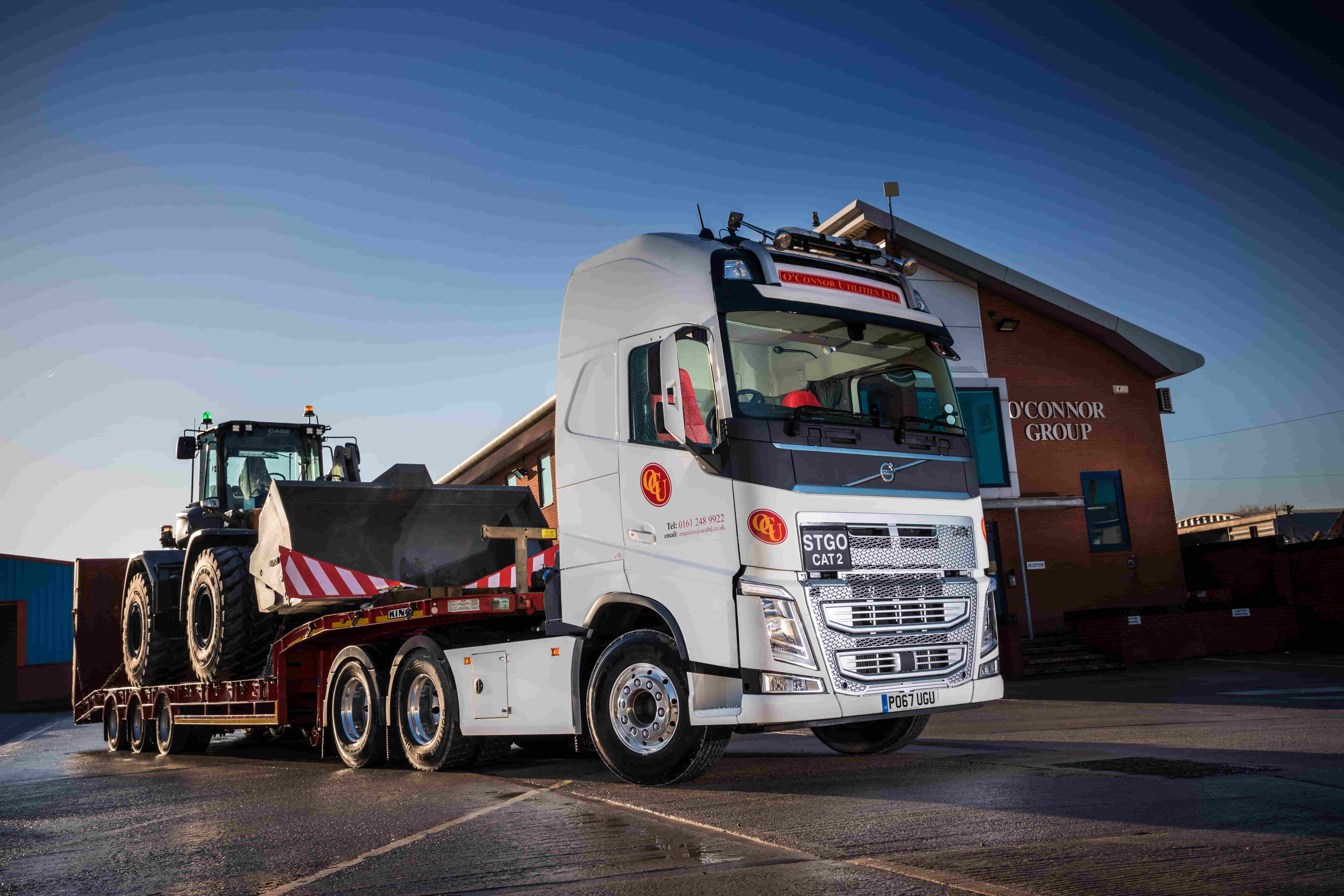 O'Connor utilities first Volvo truck gets flagship status