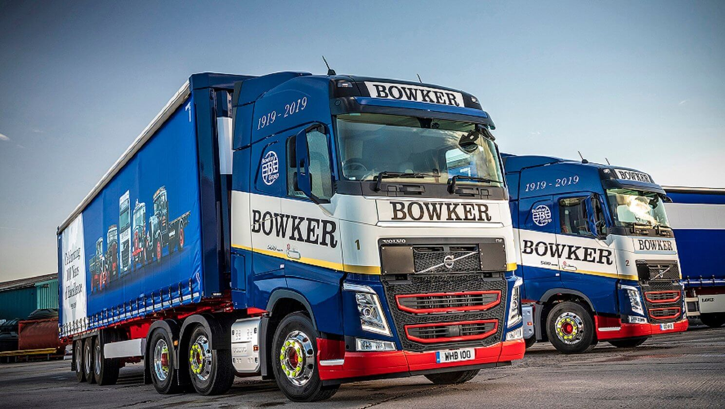 Two New Volvo FH Tractor Units Provide a Colourful Launch to Bowker Transport's Centenary Year