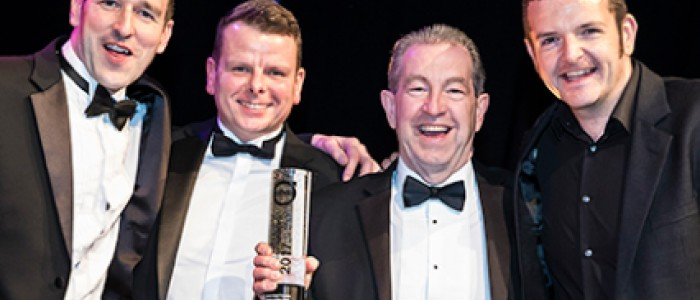 Thomas Hardie celebrate Volvo Used Truck Dealer Award