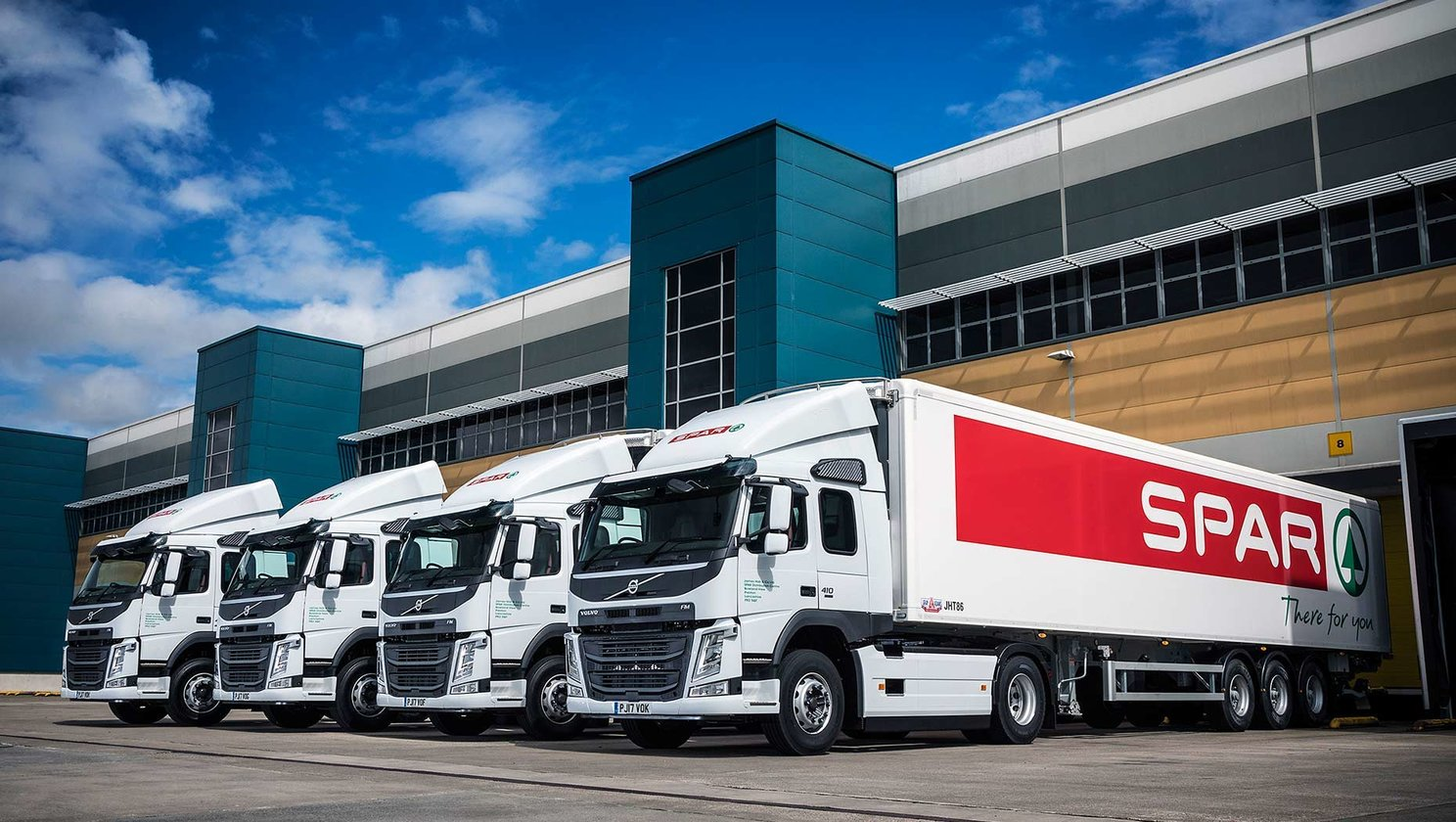 Eight new distribution trucks for James Hall & CO. Ltd.