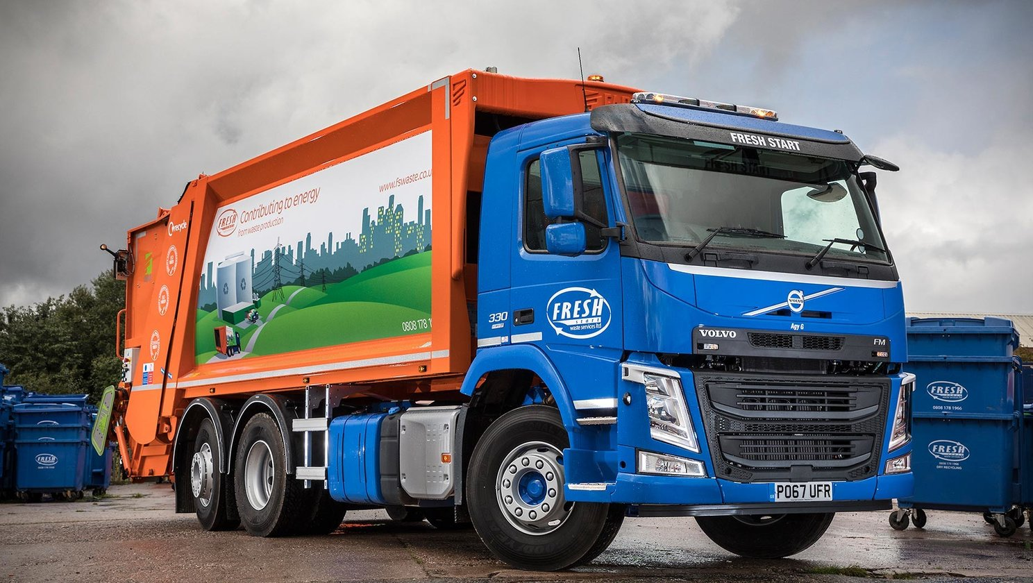 Fresh start waste names new Volvo Fm after world arm-wrestling champion 'AGY G.'
