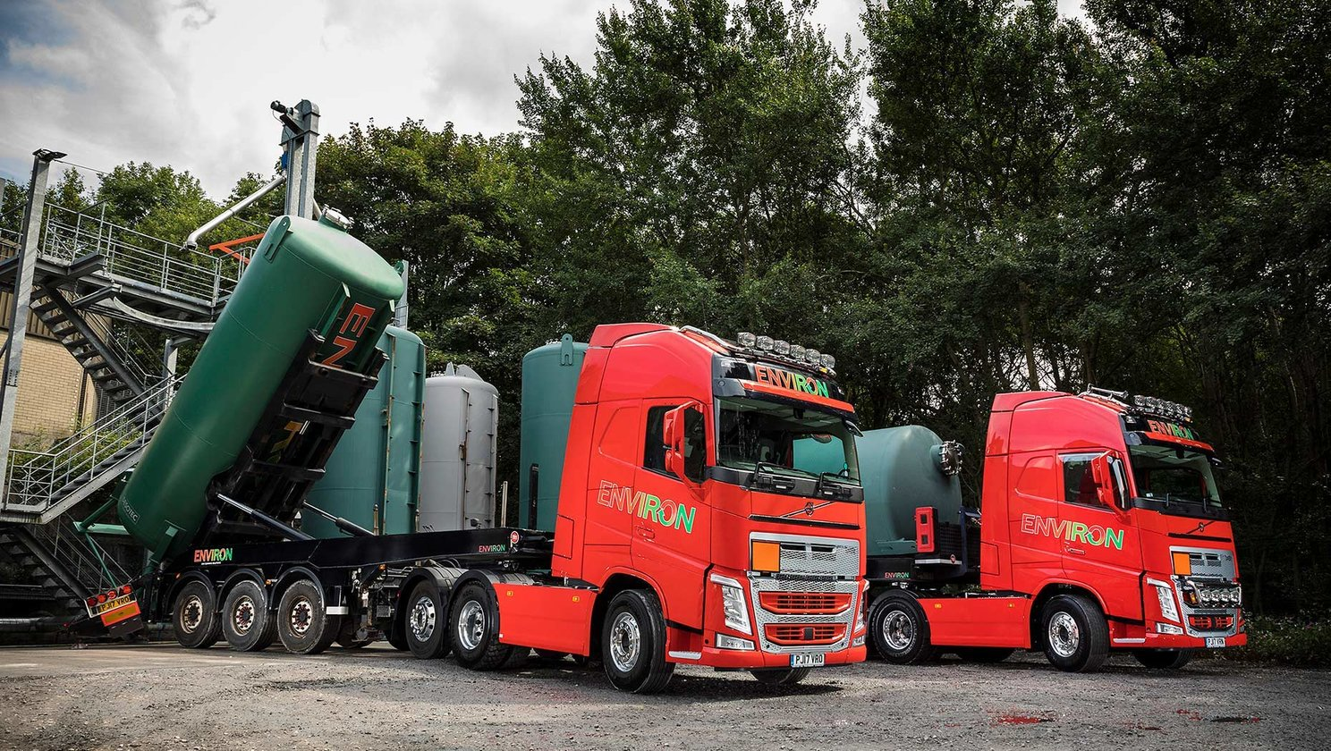 High Peak, Derbyshire-based Environ have put the company's first two Volvo trucks into service.