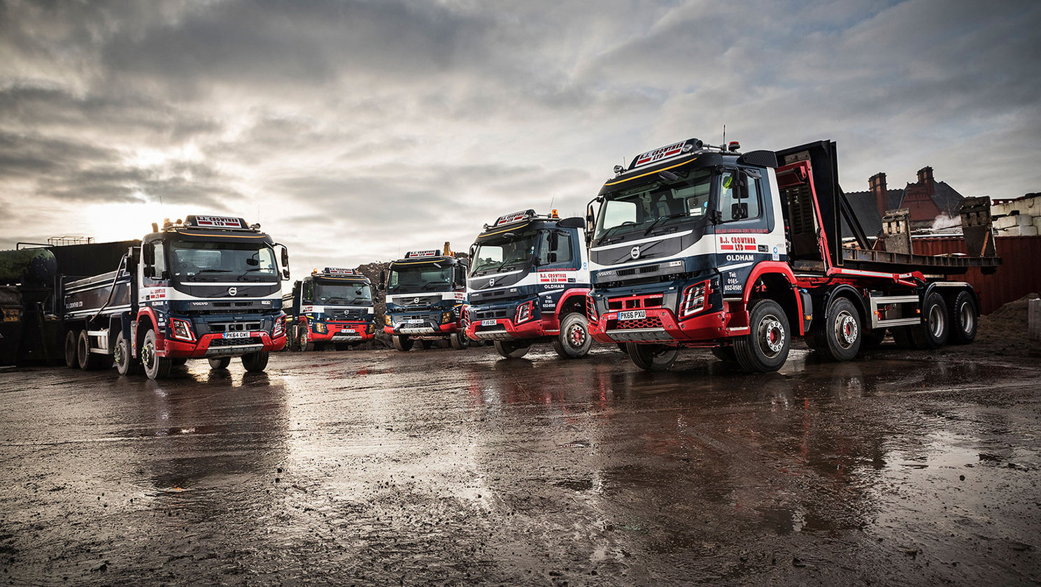 Dynafleet trial is raising efficiencies with B.J. Crowther's Volvo tipper fleet