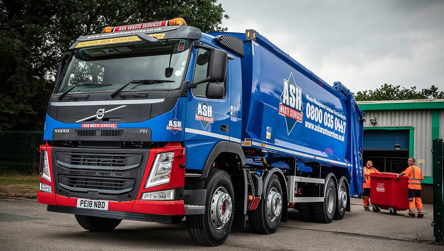 Volvo trucks take up the challenge at Ash Waste Services