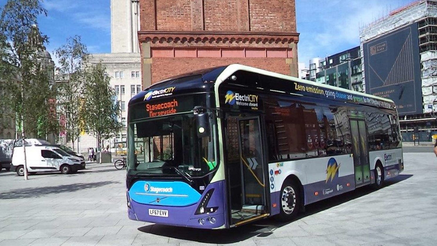 Merseytravel and Stagecoach trial charge-on-the-go electric bus