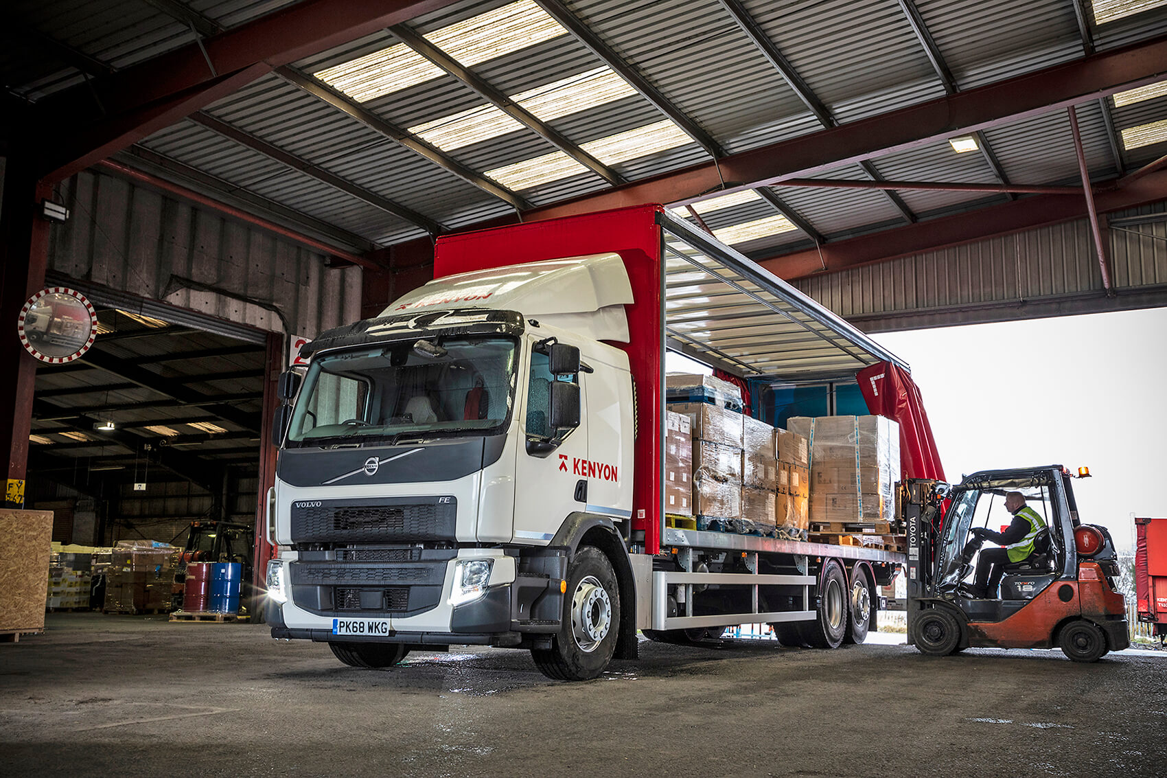 Four New Volvo FE Rigids Mark a Double First for Kenyon Haulage Ltd.