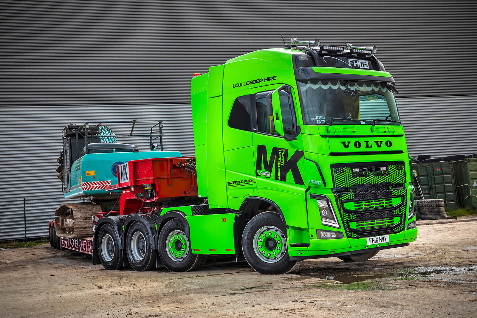 MK Plant Transport goes green with a new flagship Volvo FH16-650 8X4 Heavy Haulage Tractor Unit